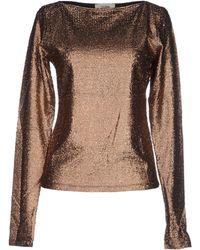 Jean Paul Gaultier T-Shirt gold - Lyst