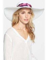 Badgley Mischka | Straw Sun Hat | Lyst