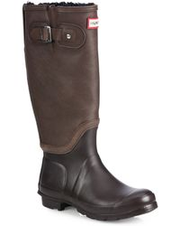 Hunter Shearling Leather & Rubber Knee-High Boots - Lyst