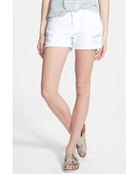 Articles of Society - Madre Distressed Denim Shorts - Lyst