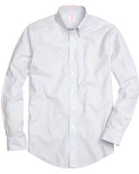 Brooks Brothers Non-iron Regular Fit Track Stripe Sport Shirt - Lyst