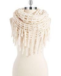 Steve Madden Crocheted Infinity Loop Scarf - Lyst