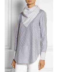 Adam Lippes Striped Cotton Top - Lyst