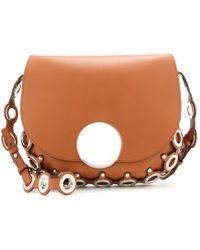 Emilio Pucci Embellished Leather Shoulder Bag silver - Lyst