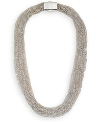 Saks Fifth Avenue Multi-chain Statement Necklacegold Silver - Lyst
