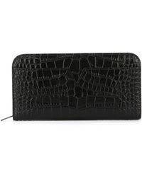 Vince - Crocodile Skin Effect Wallet - Lyst