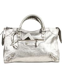 Balenciaga Handbag City Classic Giant with Studs Metal - Lyst