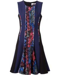 Prabal Gurung Brocade Flared Dress - Lyst