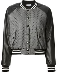 RED Valentino Tulle Bomber Jacket - Lyst