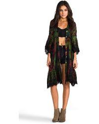 Gypsy Junkies - Sissy Long Cardigan in Green - Lyst