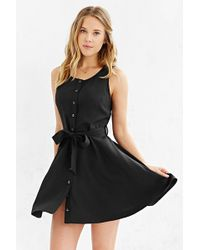 Cooperative - Button-front Tied Waist Dress - Lyst