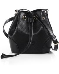 Gucci Bright Diamante Leather Bucket Bag - Lyst