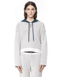 Alexander Wang French Terry Sweatshirt with Hood - Lyst