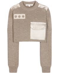 Marc Jacobs Embellished Wool Sweater brown - Lyst