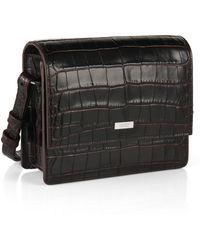 HUGO - Leather Shoulder Bag: 'vynka-c' - Lyst