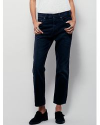 Free People | Womens Uptown Slim Straight Jeans | Lyst