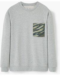 Mango | Neoprene-effect Sweatshirt | Lyst