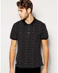 Native Youth Star Print Pique Polo - Lyst