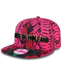 House of Holland Pink Snake New Era Cap - Lyst