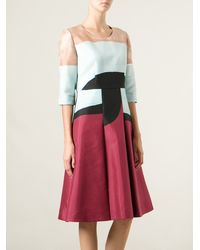Marni Multicolor Flared Dress - Lyst