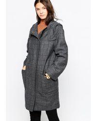 Cooper & Stollbrand - Zip Duffle Coat With Hood - Lyst