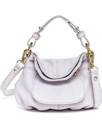 hayden-harnett - 'mini Havana 2.0' Leather Hobo - Purple - Lyst