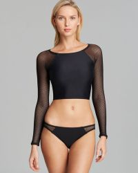 DKNY Zip It Swim Cover Up Rashguard - Lyst