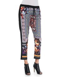 Clover Canyon Mixed Print Cropped Drawstring Pants - Lyst