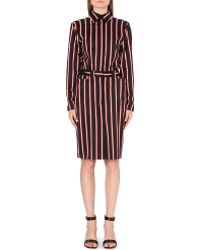Jean Paul Gaultier Striped Woolblend Dress Multi Navy - Lyst