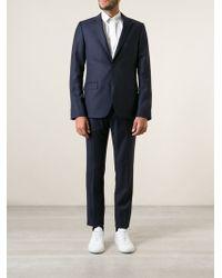 Calvin Klein Blue Pinstripe Suit - Lyst