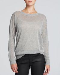 DKNY Metallic Sweater - Lyst