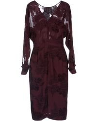 Gucci Knee Length Dress - Lyst