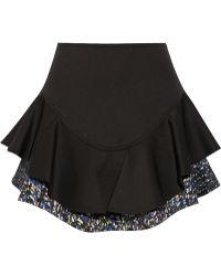 Yigal Azrouel Layered-effect Tech-jersey Mini Skirt - Lyst