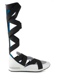 Vionnet - Crossed Strap Trainer Boots - Lyst