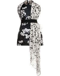 Giambattista Valli Printed Silkgazar and Chiffon Mini Dress - Lyst