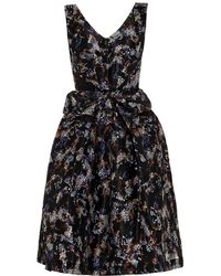 Saloni Heidi Mamba-Print Silk Dress - Lyst
