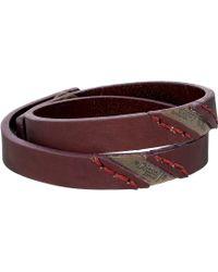Diesel Red Ageft Bracelet - Lyst