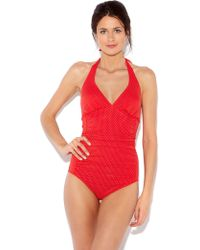 Dickins & Jones Spot Swimsuit - Lyst