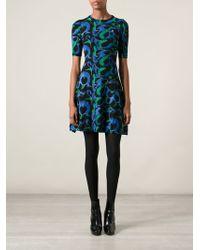 Kenzo Jacquard Knit Dress - Lyst