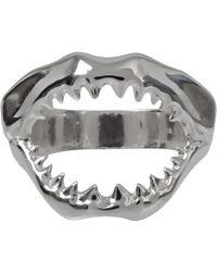 Venessa Arizaga - Mini Silverplated Sharky Ring - Lyst
