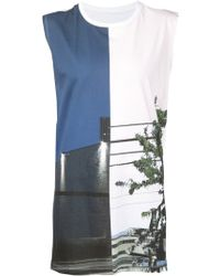 Mm6 By Maison Martin Margiela Building Tree Muscle T-shirt - Lyst