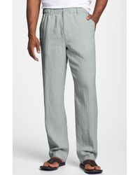 Tommy Bahama 'New Linen On The Beach' Easy Fit Pants gray - Lyst