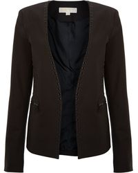 Michael Kors Collarless Blazer with Cutout Detail - Lyst