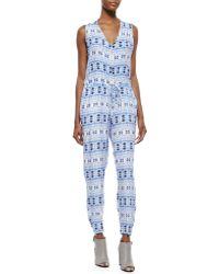 Charlie Jade - Printed Tie-waist Jumpsuit - Lyst