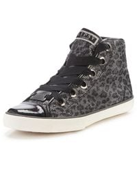 Lipsy Zoe High Top Trainers - Lyst