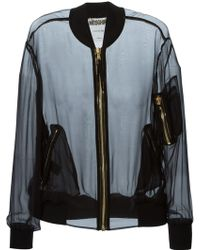 Moschino Sheer Bomber Jacket - Lyst