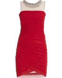 BCBGMAXAZRIA Maia Sleeveless Asymmetrical Short Dress - Lyst