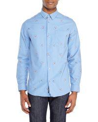 Wesc Blue Ilic Woven Shirt - Lyst