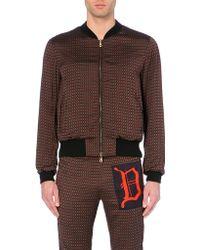 Dries Van Noten Geometric Print Zipped Bomber Jacket - For Men - Lyst