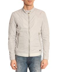 Diesel Hollis Light Grey Nylon Jacket - Lyst